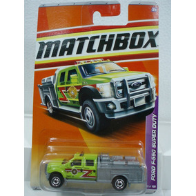 Matchbox Camion De Bomberos Ford F-550 Sd 50/100 Metal 1/64