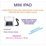 Funda Protectora Para Buceo 3 Metros Ipad Mini Color Blanco