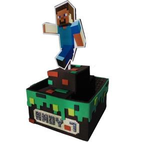 Centro De Mesa Minecraft Personalizado En Goma Eva