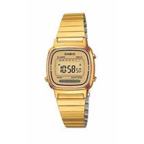 Reloj Casio Dama Dorado Extensible Metal Cronometro