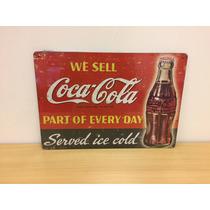 Quadro Mdf Decorativo Placa Coca Cola Churrasqueira Cod 342