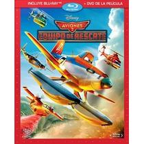 Aviones 2 Equipo De Rescate, Pelicula Combo Bluray + Dvd