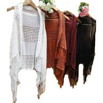 Colete Kimono Feminino Tricot/croche - Promoção