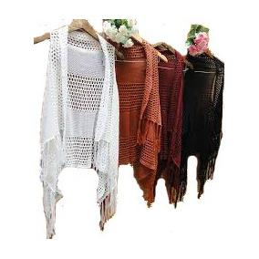 Colete Kimono Feminino Tricot/croche - Barato