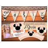 Kit Imprimible Minnie Vintage Shabby Cumpleaños Baby Shower