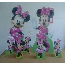 Minnie Mouse Kit Festa Mdf 6mm Display Toten Cenario Chao