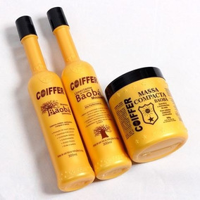 Kit Baobá+shampoo Indiano 300ml+mousse Indiano 250g Coiffer
