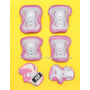 Protecciones Para Niñas ( 6 Piezas ) Patines Roller - Hd !!!
