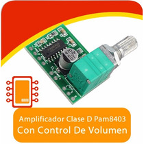 Pam8403 Mini Amplificador 3w De Audio Clase D