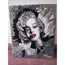 Cuadro De Marilyn Monroe - 40 X 50 Cm Realizado En Vidrio