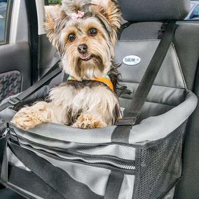 Assento Cadeira P/ Auto Pet Para Cães E Gatos Transpet Cinza