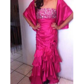 Vestido De Fiesta Color Fucsia Talla 12-13