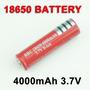 Bateria Pila 18650 Protegida Ultrafire Original 3.7v 4000mah