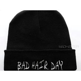 Gorro Bordado Beanie Bad Hair Day Rocker Grunge Pinup Tumblr