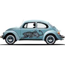 Sticker Franja Lateral Tuning Tigre Acechando Chevy Jetta
