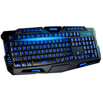 Teclado Gamer Luminoso Led Neon Usb Legends Ghost Tecla Ç A2