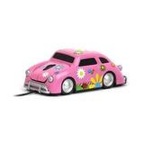 Mouse En Forma De Vocho Floreado Rosa Volkswagen Raton