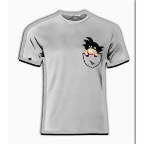 Playeras O Camiseta Goku En El Bolsillo Dragon Ball Z