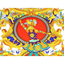Versace Plato Decorativo De Porcelana Rosenthal Oro 24 K