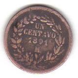 1 Centavo 1891 Mº Moneda De Mexico De Porfirio Díaz - Vbf