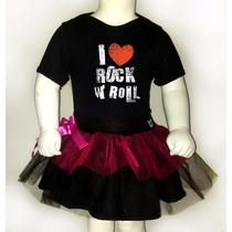 Disfraz Halloween Para Bebes Pañalero +tutu- Love Rock