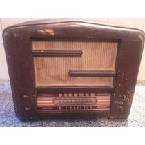Radio Antigua Mueble De Madera P/restaurar Leer!!