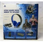 Fone Headset Silver Wired Stereo 7.1 Sony Ps4 Ps3 Psvita Psp