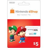 Código Tarjeta - Nintendo Eshop Prepaid Card $5