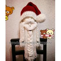Gorro Santa Claus Crochet Tejidos Envio Gratis