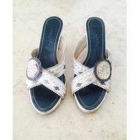 Zapatos Saverio Di Ricci Cuero Taco Chino