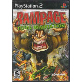 Remate Juego Ps2 Rampage Total Destruction Playstation Css