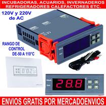 Termostato Digital Incubadoras Invernaderos Acuarios Etc.