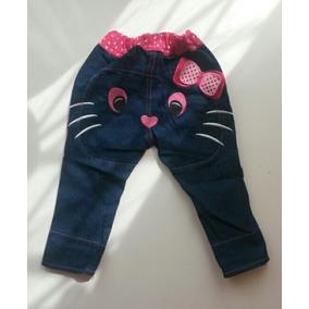 Pantalón Jeans Para Niña Hello Kitty. Solo Talla 1