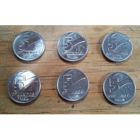 Moedas De 5 Cruzeiros (lote Com 6 Moedas)