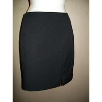 Liquidación! Falda Negra Corta Básica, Corte Clásico, T-9/10