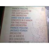 Disco Acetato De Francis Polenc Concert Champetre For Harpsi