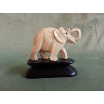 Hermosa Antigua Figura China Elefante Simil Marfil Oriental
