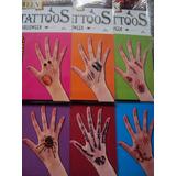 Tatuajes Hallowen De Miedo,heridas,arañas,huesos 3 Planchas