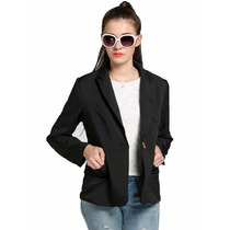 Tsuki Moda Asiatica: Blazer Saco Formal Solido Elegante