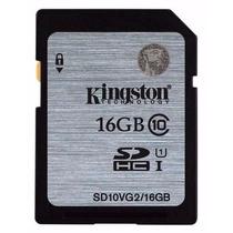 Cartão De Memória Sd Kingston 16gb Sdhc Classe 10 - Original