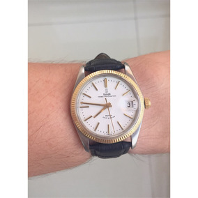Tudor Rolex Prince Oysterdate Aco E Ouro , 34mm , Raro!!!
