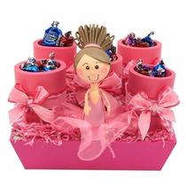 Despachador De 5 Dulceros Princesa Cumpleaños Bautizo Foamy