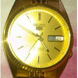 Reloj Dorado Seiko 5
