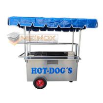 Carreta Hotdogs Hamburguesas Carro Puesto Carrito Acero Inox