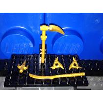Lego Ninjago 5 Armas Doradas - Accesorios - Lote #2