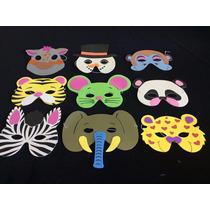 Mascaras De Animalitos Niño Goma Eva X12 Excelente Oferta!!