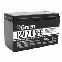 Kit 2 Baterias Seladas 12v 7ah Green Chip P/ Alarme/no Break