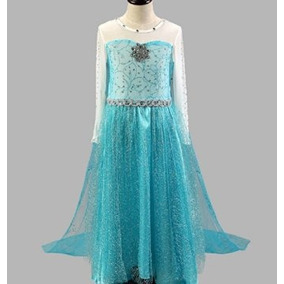 Disfraz Para Niña Fe9 Luz Azul Elsa Vestido De Cristal Cong