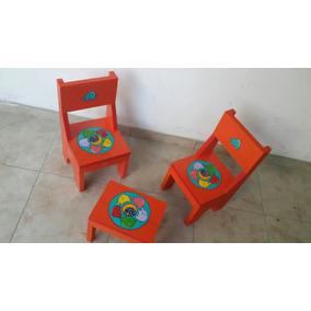 sillitas para nios de madera maciza oferta