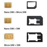 Adaptador 3 En 1 Microsim Nano Sim Noosy - Local Centro